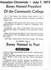 Dr. Jew Don Boney Sr. becomes the 2nd president of Houston Community College.
